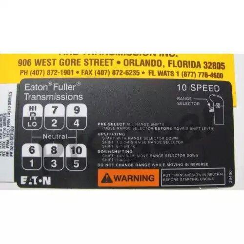 10 Speed Shift Pattern 10 Things Eaton Eaton Fuller