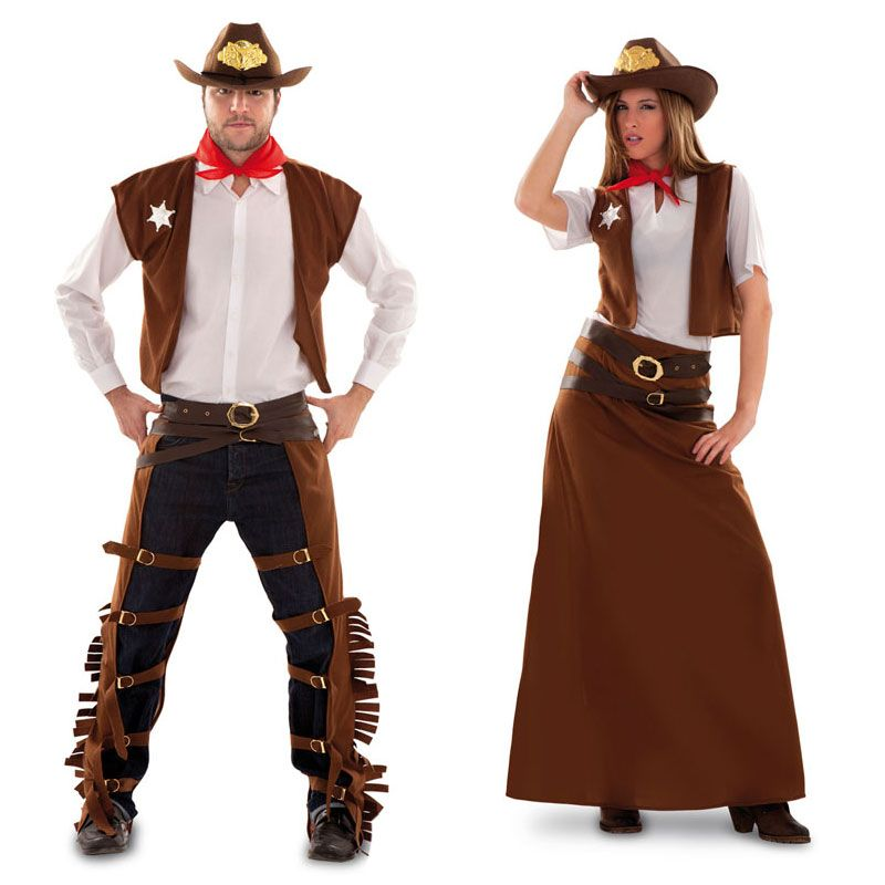 Pareja disfraces de vaqueros parejas disfraces carnaval - Disfraces caseros adulto ...