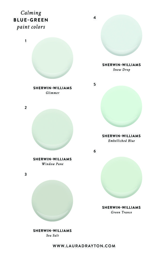 The Perfect Calming Blue Green Paint Colors