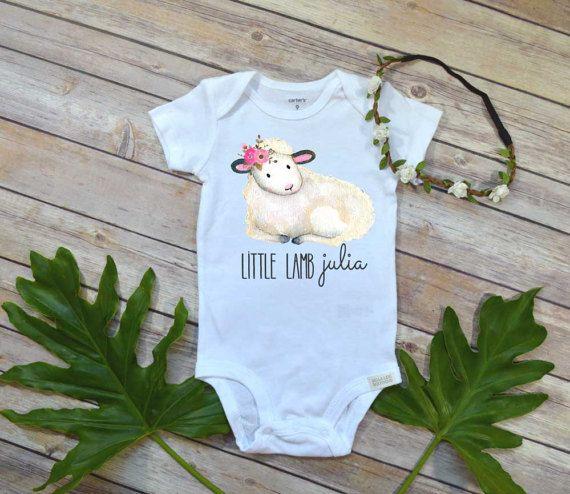 Little lamb babys first easter custom easter girl shirt easter little lamb babys first easter custom easter girl shirt easter bodysuit personalized negle Images
