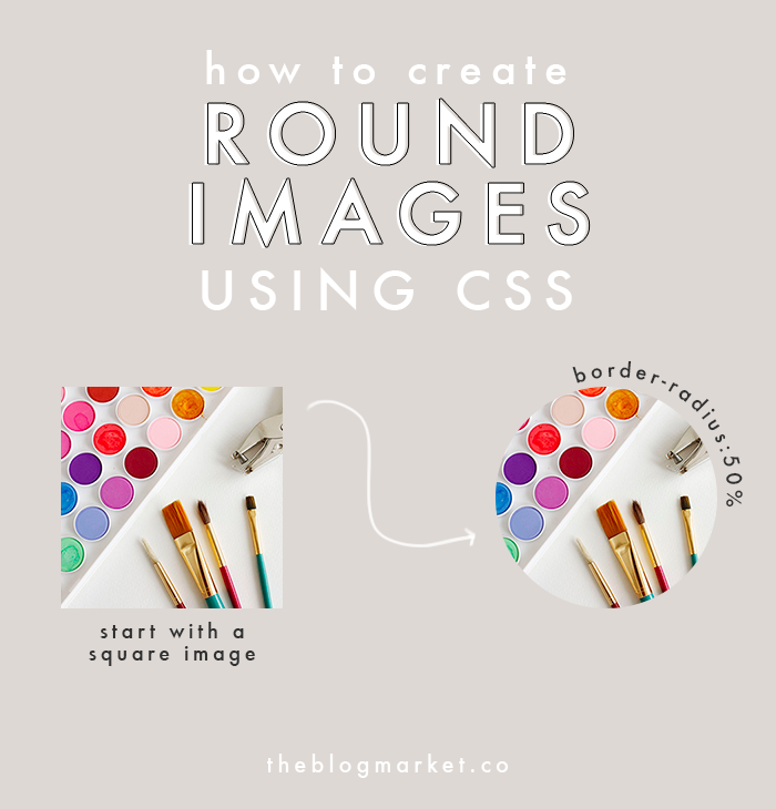 How to Create Round Images Using CSS | The Blog Market