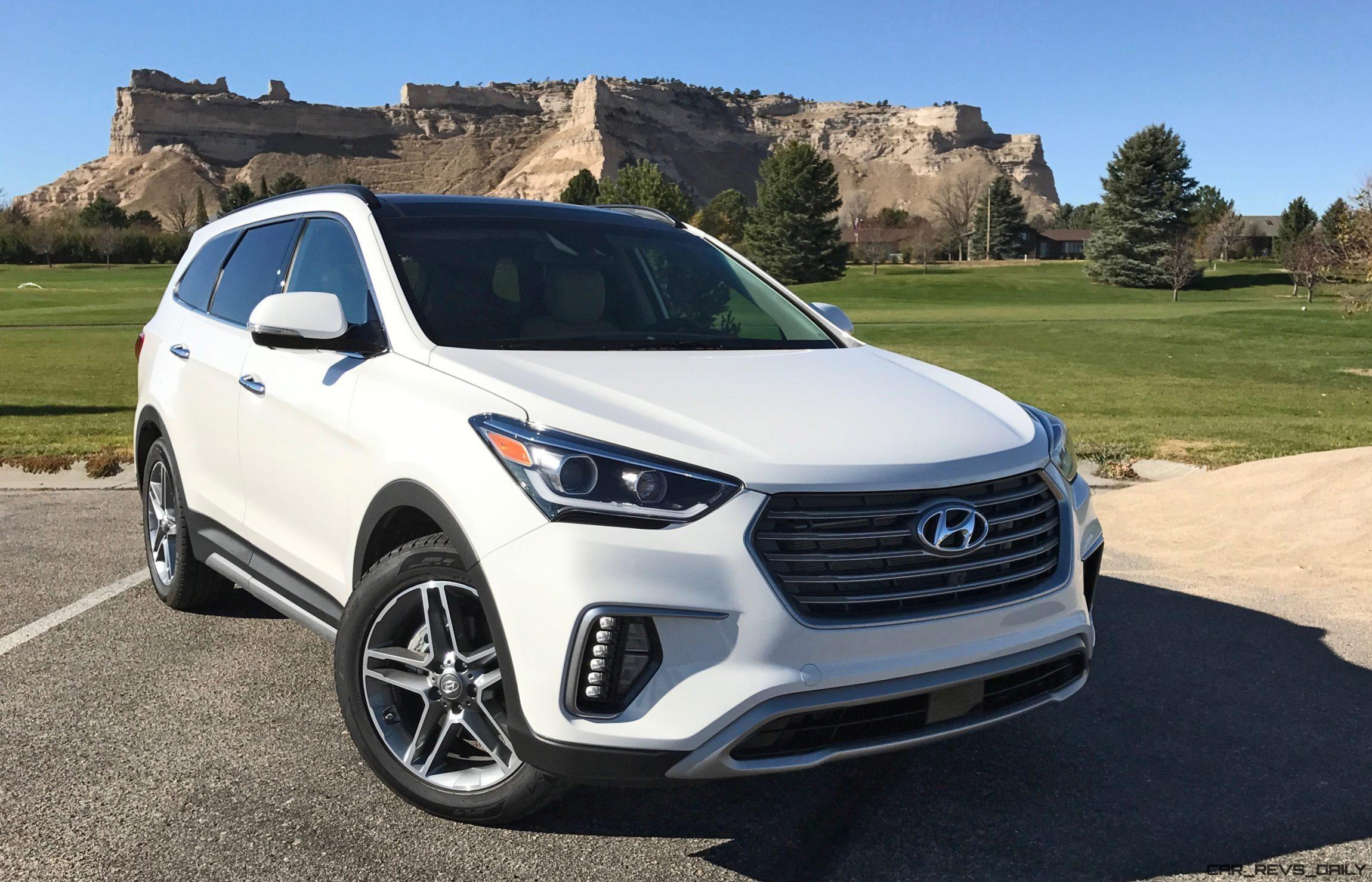 2017 Hyundai Santa Fe Ultimate Road Test Review By Tim Esterdahl Car Shopping Car Revs Daily Com Hyundai Santa Fe Hyundai Road Test