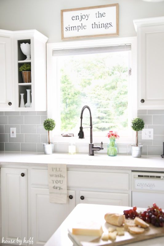 Farmhouse Kitchen Faucet Tile Table A Modern Makeover For The Home Chef Quarters House By Hoff