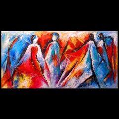 Schilderij abstract mensen