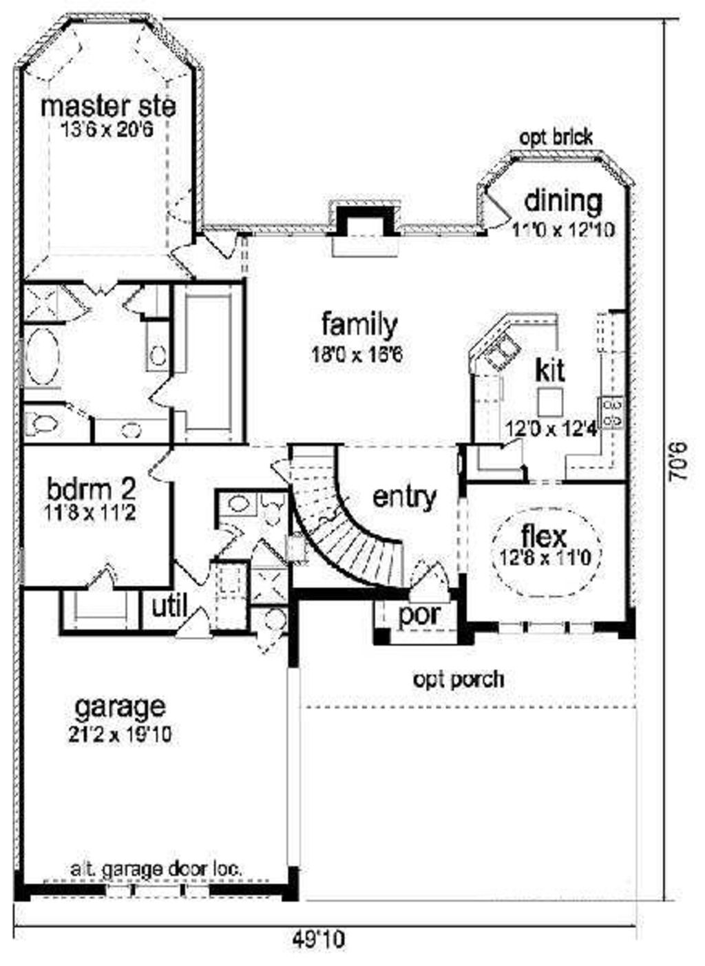 Traditional Style House Plan 5 Beds 3 Baths 2940 Sq Ft Plan 84 272 House Plans Floor Plan Design How To Plan