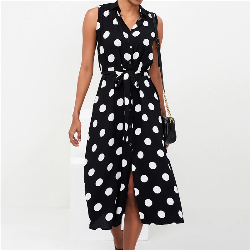 Womens Satin Black Polkadot Going out Long Sleeve Wrap Dress Size 6