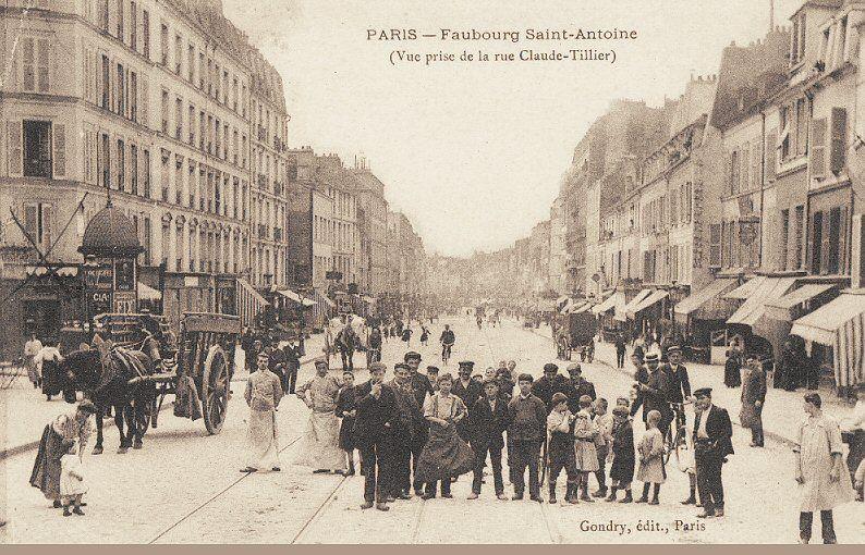 La rue du faubourg saint antoine vue depuis la rue claude - Paris rue du faubourg saint antoine ...