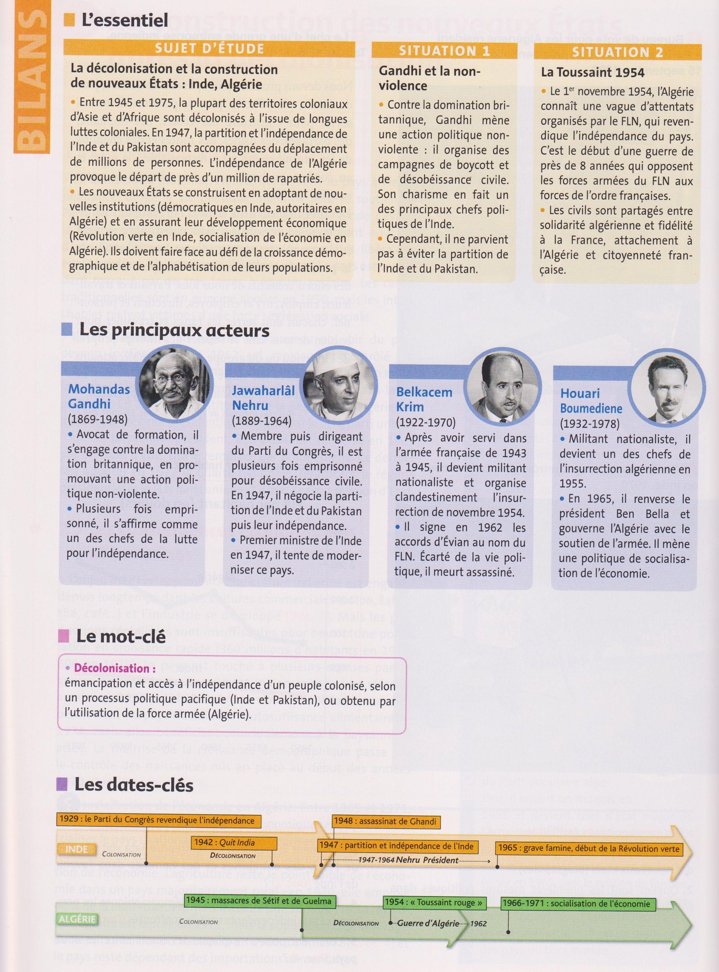 Tbacpro H3 Resume De Cours Pour Le Sujet D Etude D Histoire N 3 La Decolonisation Et La Construction De Nouveaux Eta Revision Bac Sujet Bac Cours Histoire