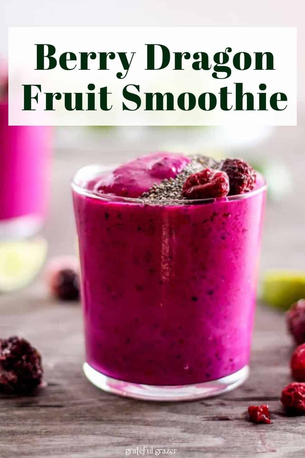 Dragon Fruit Smoothie Recipe | Healthy Berry Pitaya Drink