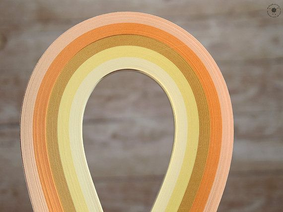 CREAM Quilling paper STRips //  CREam Mix // by QuillingWonderland
