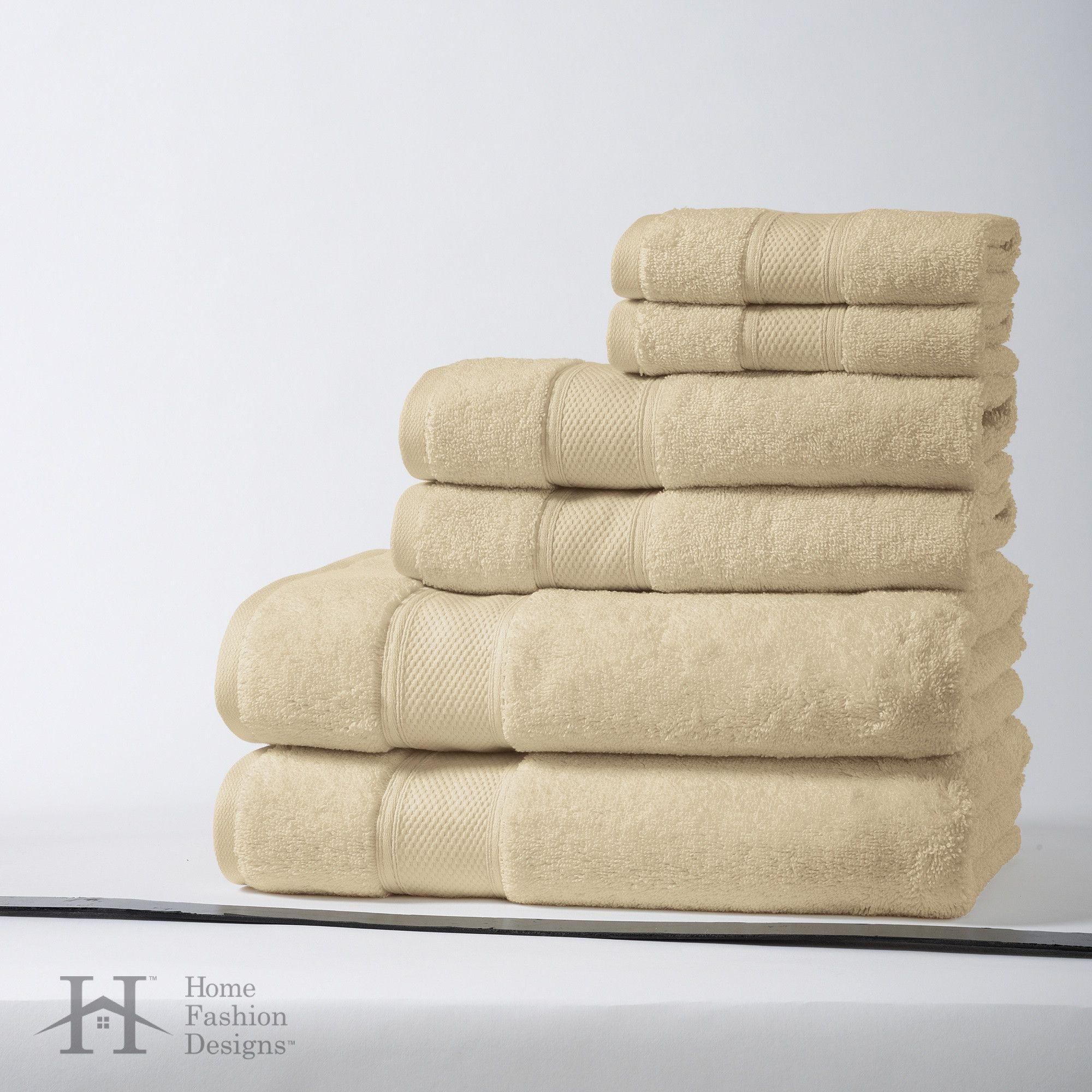 Santorini Collection 6-Piece Luxury 100% Turkish Cotton Towel Set