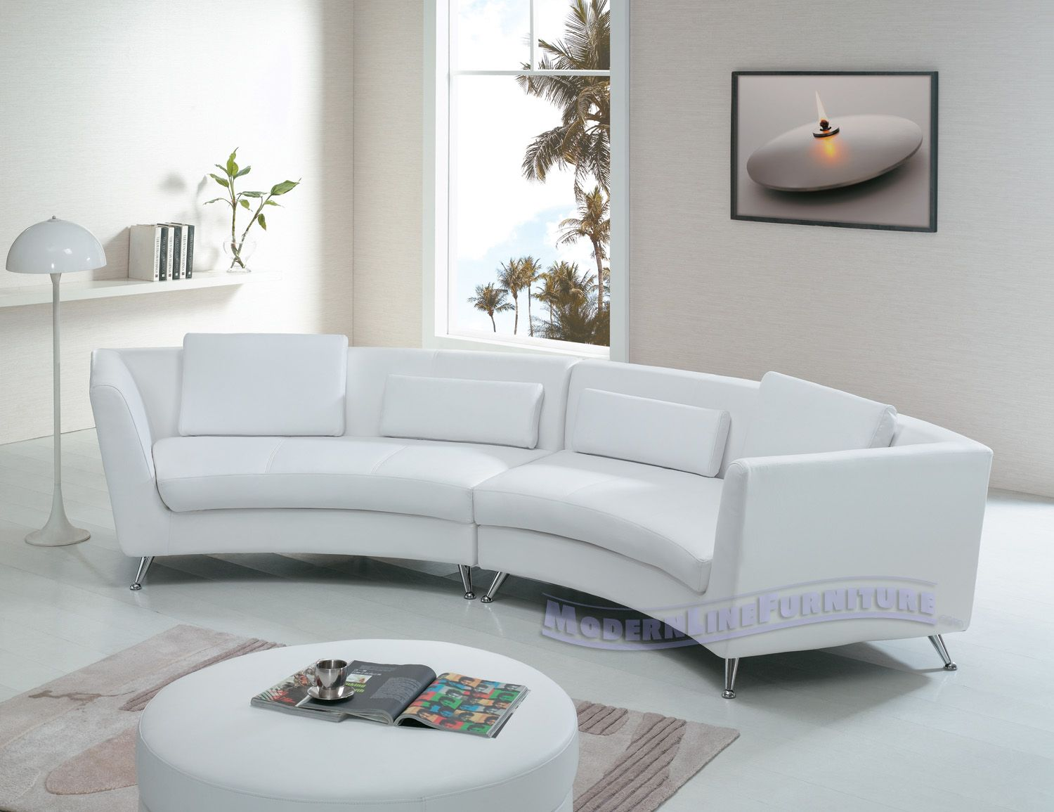 Oval Couch Sofa Curved Leather Sofas Couches