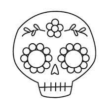 simple sugar skull template  Google Search  sugar skulls