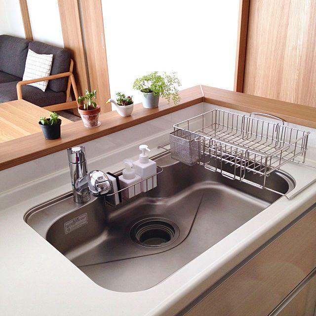 シンク周りをもっと使いやすく 目からウロコの裏ワザ10選 シンク リビング キッチン シンク 水切り