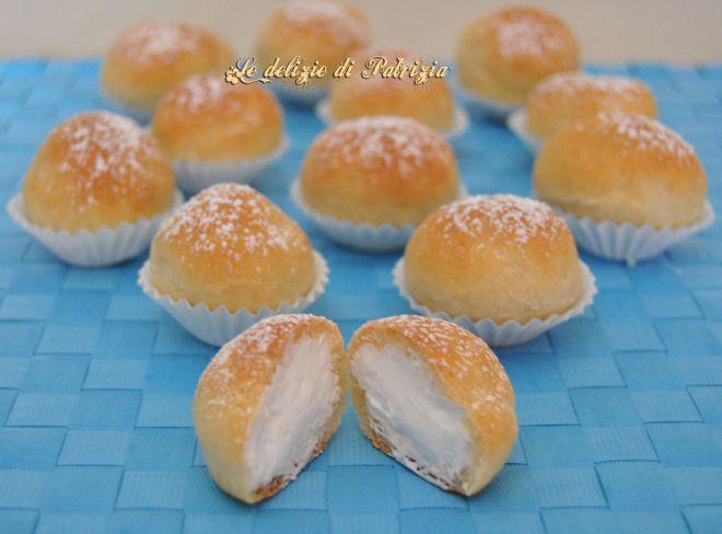 Mini brioches con crema al latte (fiocchi di neve) | Le delizie di Patrizia