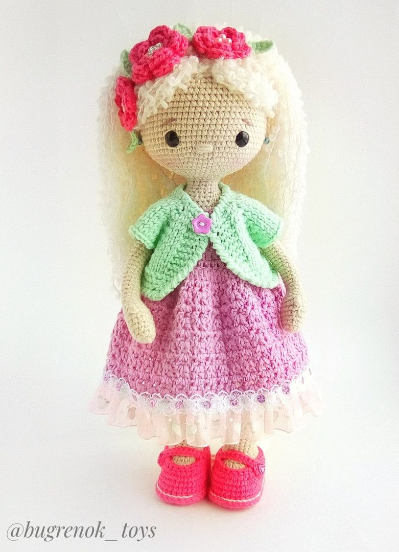 pdf Louisa Download AMIGURUMI Crochet doll PATTERN LollipopDolls Photo Tutorial Katushka Morozova ENGLISH, Russian toy diy