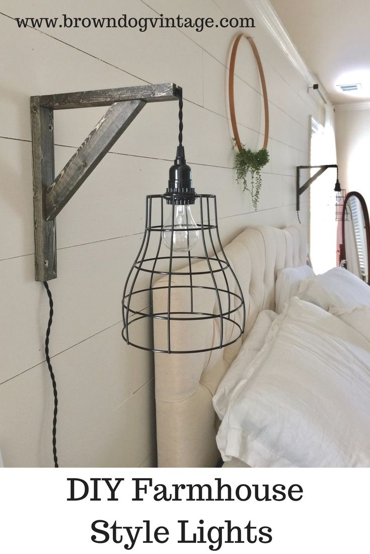 Easy and affordable diy industrial farmhouse pendant lights in 2018 check out how to diy two cage pendant lights and brackets for 40 aloadofball Image collections