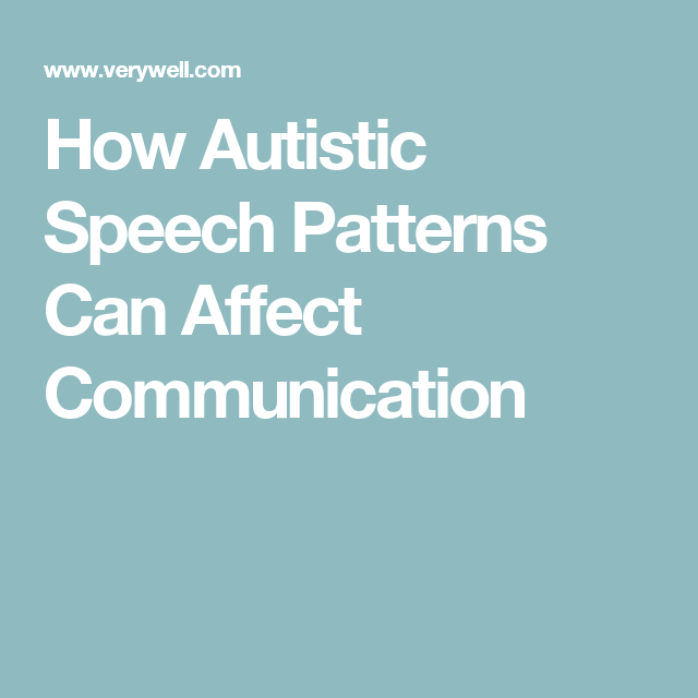 Why Does My Autistic Child's Voice Sound Odd?   ASD