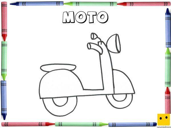 Sgblogosfera Maria Jose Argueso Coloreamos Medios De Transporte Moto Para Colorear Motos Para Dibujar Moto Para Pintar