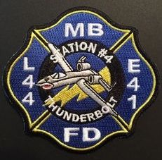 Myrtle Beach Sc Fire Department Station 4 Patch Air Force Base Engine Rescue A10 Ems Patch Patches Firefighter