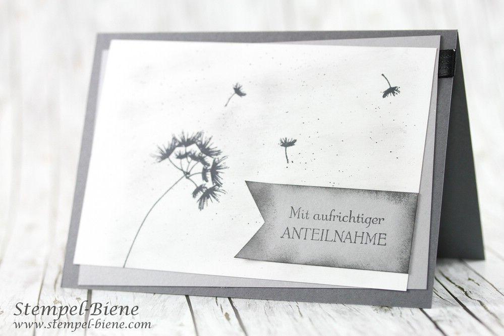 Trauerkarte Mit Pusteblume