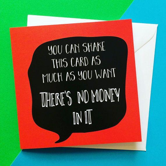Birthday card for him money birthday card funny present birthday no money birthday card funny birthday card by lukannadesigns bookmarktalkfo Choice Image