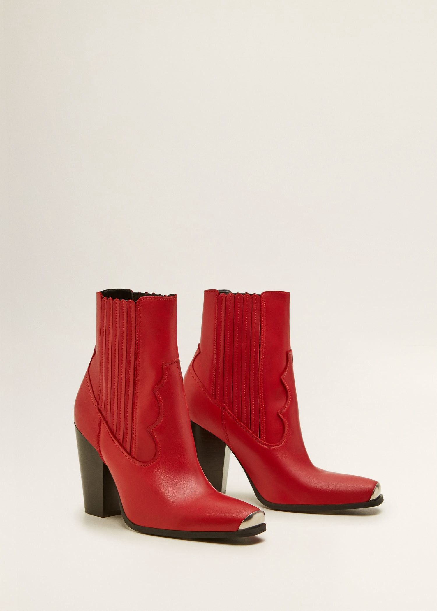 391eede33dd Mango Leather Cowboy Ankle Boots - 6 | Cowboy boots | Elegante ...