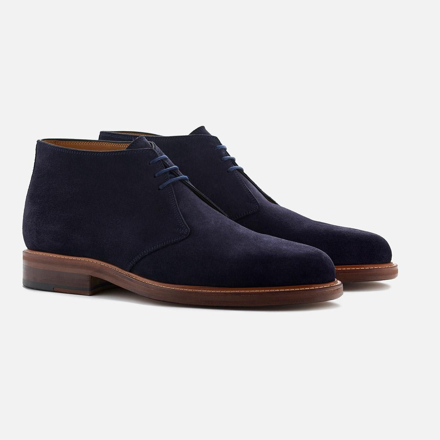Laval chukka boots - Water resistant suede - Navy