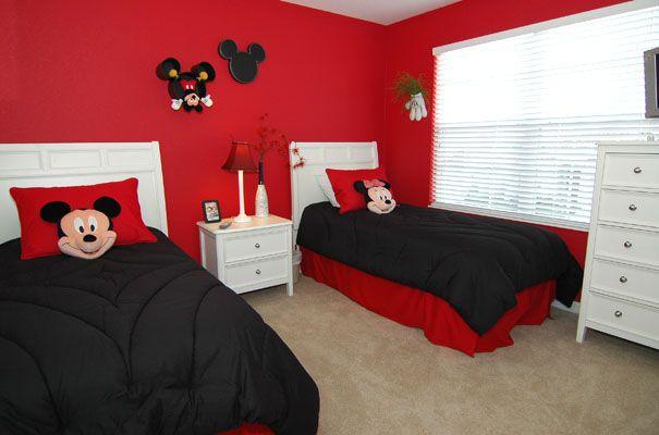 Dormitorio infantil cuarto mickey en 2019 mickey mouse - Decoracion infantil habitacion ...