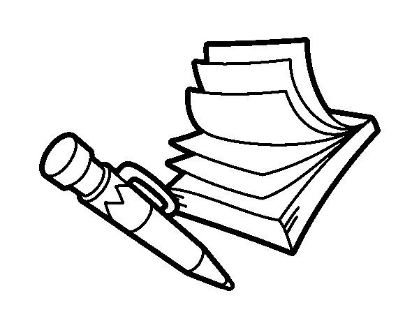 Dibujos Para Colorear De Libro Y Libreta: Cuaderno Para Colorear - Buscar Con Google