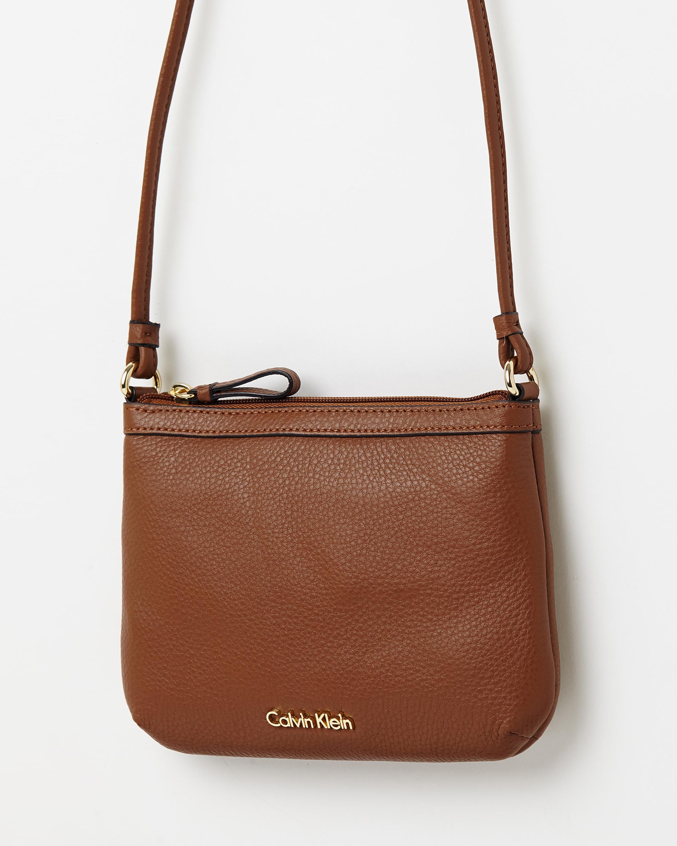 Key Item Pebble Leather Cross Body Bag By Calvin Klein Online The Iconic Australia
