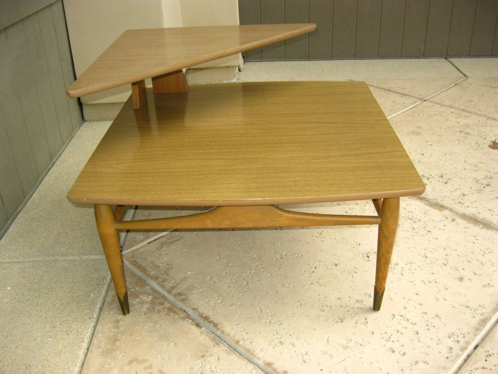 Vintage Danish Mid Century Modern Corner COFFEE TABLE Two