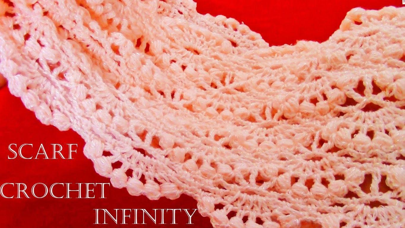 Como tejer bufanda infinita circular tubular fácil en puntos ...