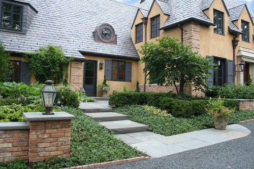 Via Landscape Architects Rocco Fiore Sons Libertyville Il Front Entry Landscaping Luxury Landscaping House Exterior