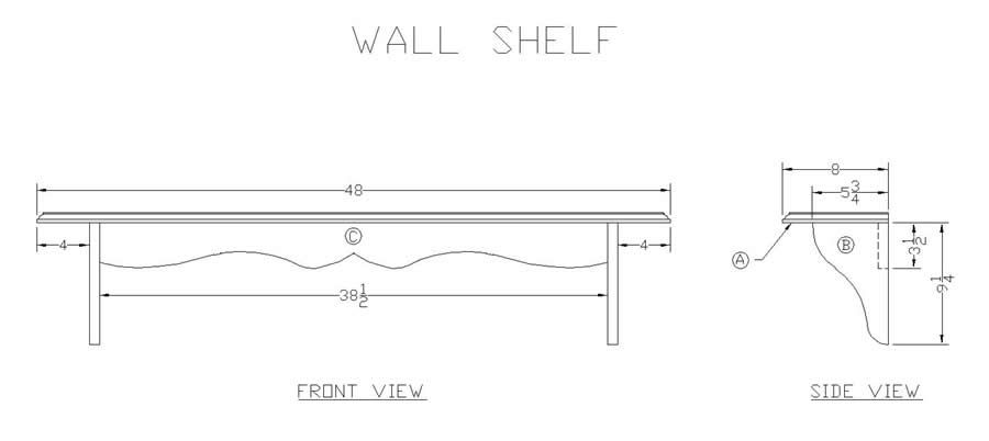 Free wood shelf plans Free woodworking plans and projects