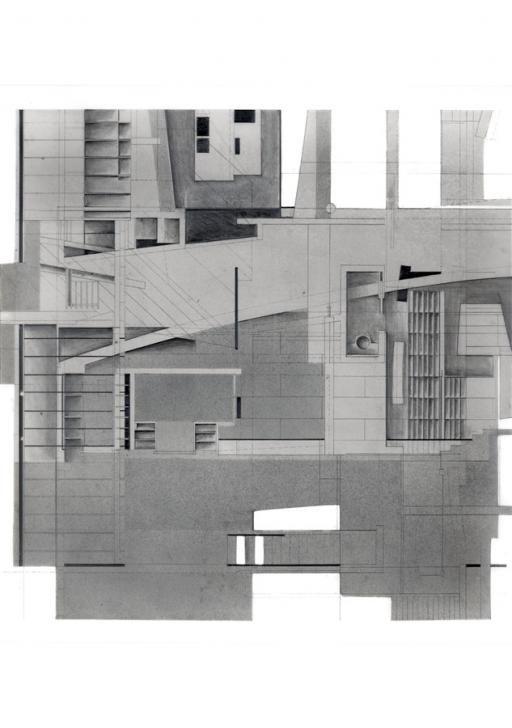 Morphosis Model Bjorn Buckley: Blades Residence - Conceptual Drawing