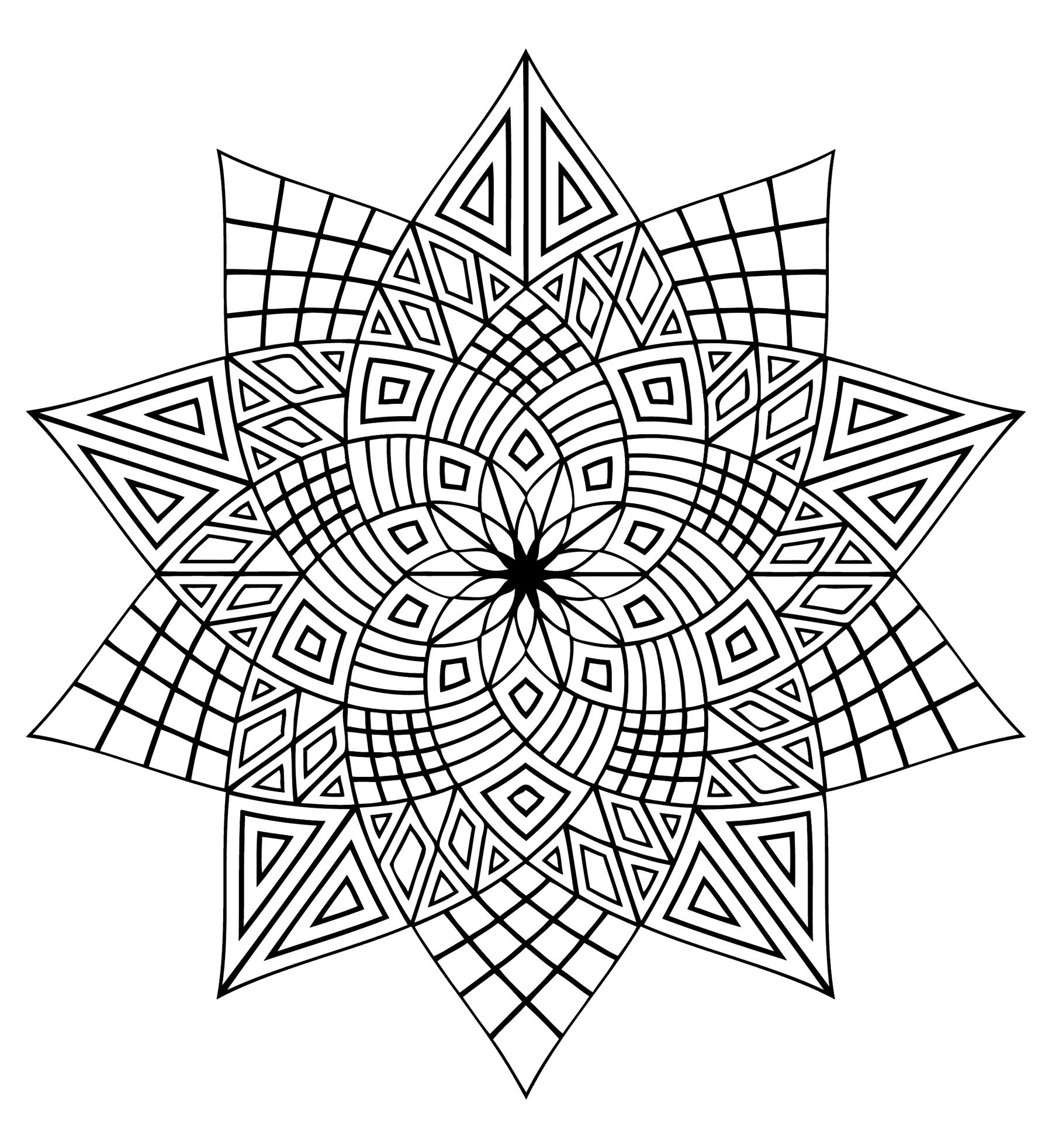 Here Are Difficult Mandalas Coloring Pages For Adults To Print For Free Mandala Is Geometric Coloring Pages Abstract Coloring Pages Pattern Coloring Pages