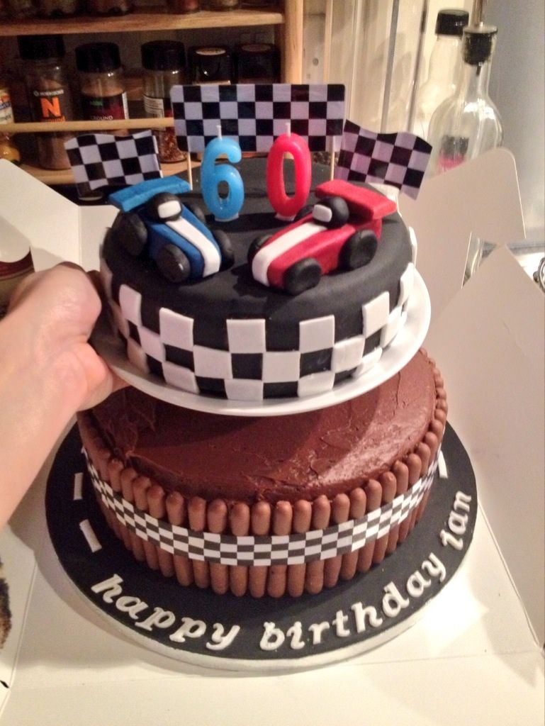 A chocolate racing car cake for someones 60th Baking Pinterest