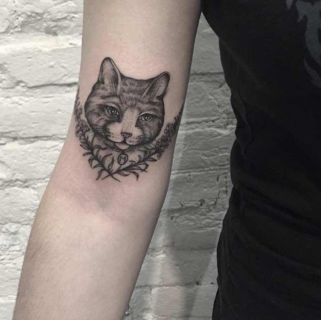 45 Dazzling Dotwork Animal Tattoos Tattooblend Cat Tattoo Animal Tattoos Funny Tattoos