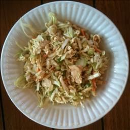 Oriental Chicken Cabbage Salad On Bigoven This Is The Standard Chicken Ramen Cabbage Salad One Of M Chicken And Cabbage Cabbage Salad Recipes Oriental Dishes