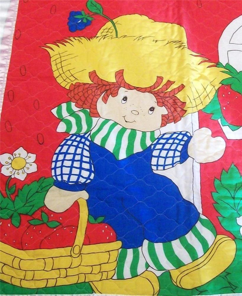 Vintage Baby Blanket Vintage Huckleberry Pie Strawberry Shortcake ...