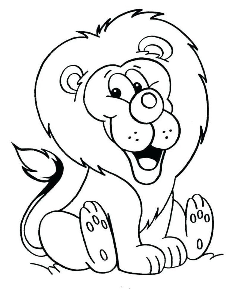 Lion King Coloring Pages For Toddlers Hewan Seni Kertas Seni