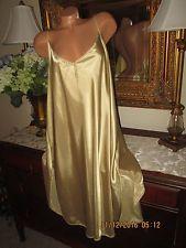 Petra Fashions Gold nightgown gown dress lingerie sissy satin Plus size 4X  EUC 9af0e01e4