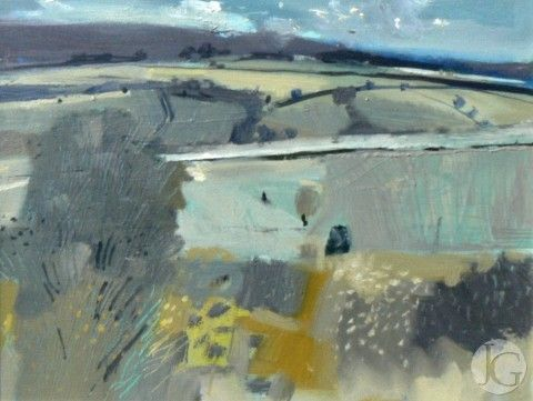 Landscape Paintings By Malcolm Ashman From The Jerram Gallery Sherborne Dorset Contemporary British Pi Abstract Landscape Landscape Art Landscape Paintings