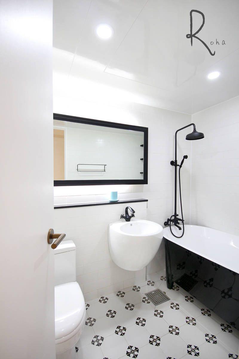 인테리어 디자인 아이디어, 내부 개조 & 리모델링 사진  욕실 ...