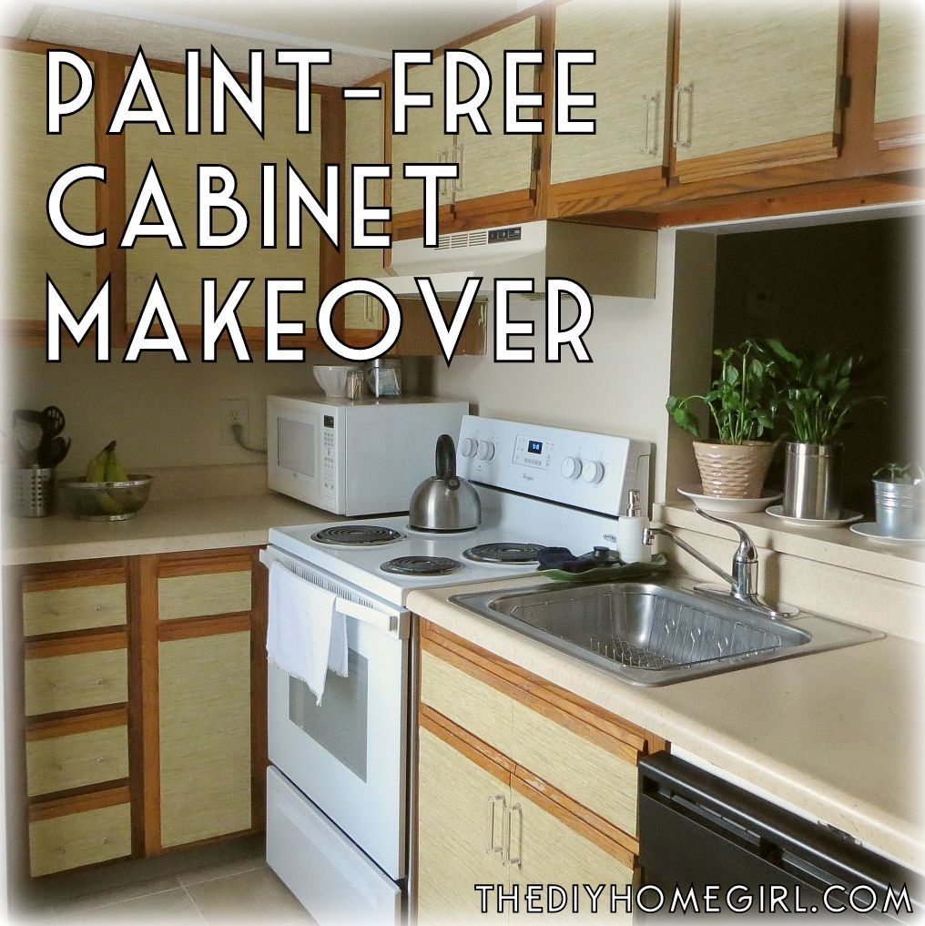 How to make over kitchen cabinets without paint diy faux grasscloth