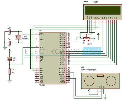 how to make ultrasonic rangefinder project using 8051 rh pinterest com