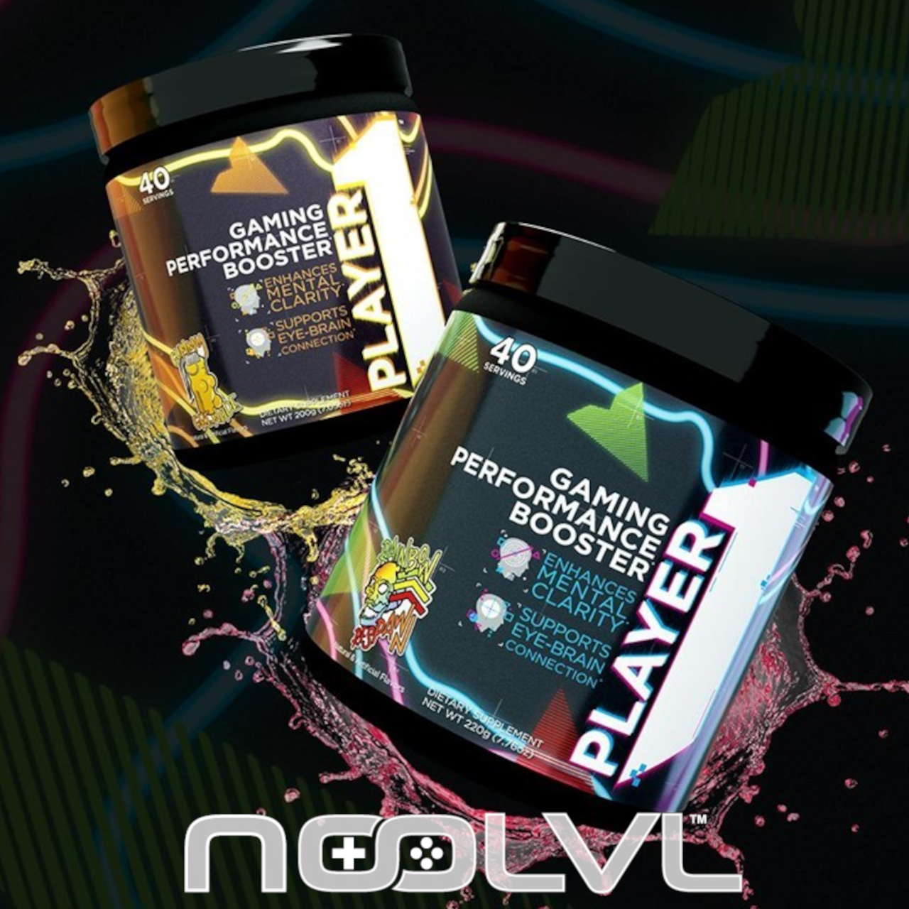 Rule 1 Player1 Boosts Gaming Performance And Rules The Roost Nutrition Branding Supplements Natural Caffeine