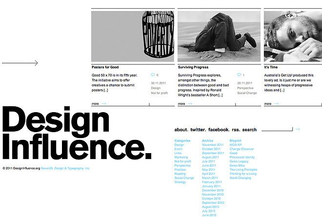 Nice Type Layout And Design By Design Influence Web Design Gallery Typography Web Design