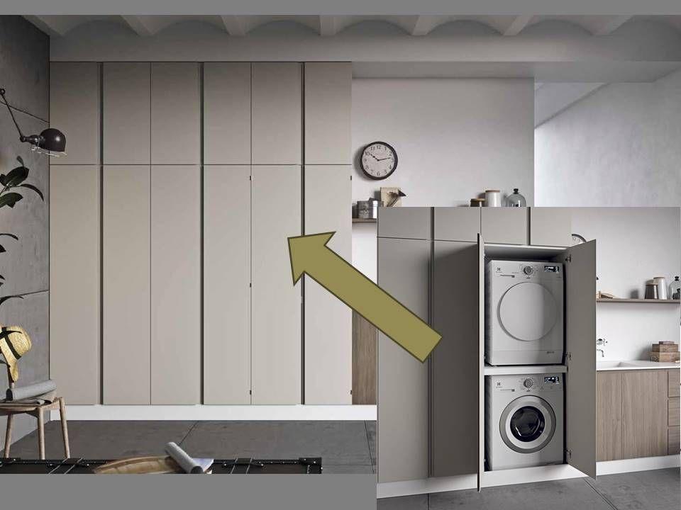 Mobile a colonna per lavatrice e asciugatrice. | Bathroom ...